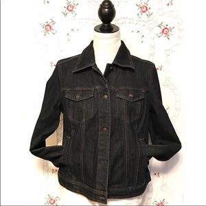 Charter Club Jeans Jacket Dark Denim Pockets Small